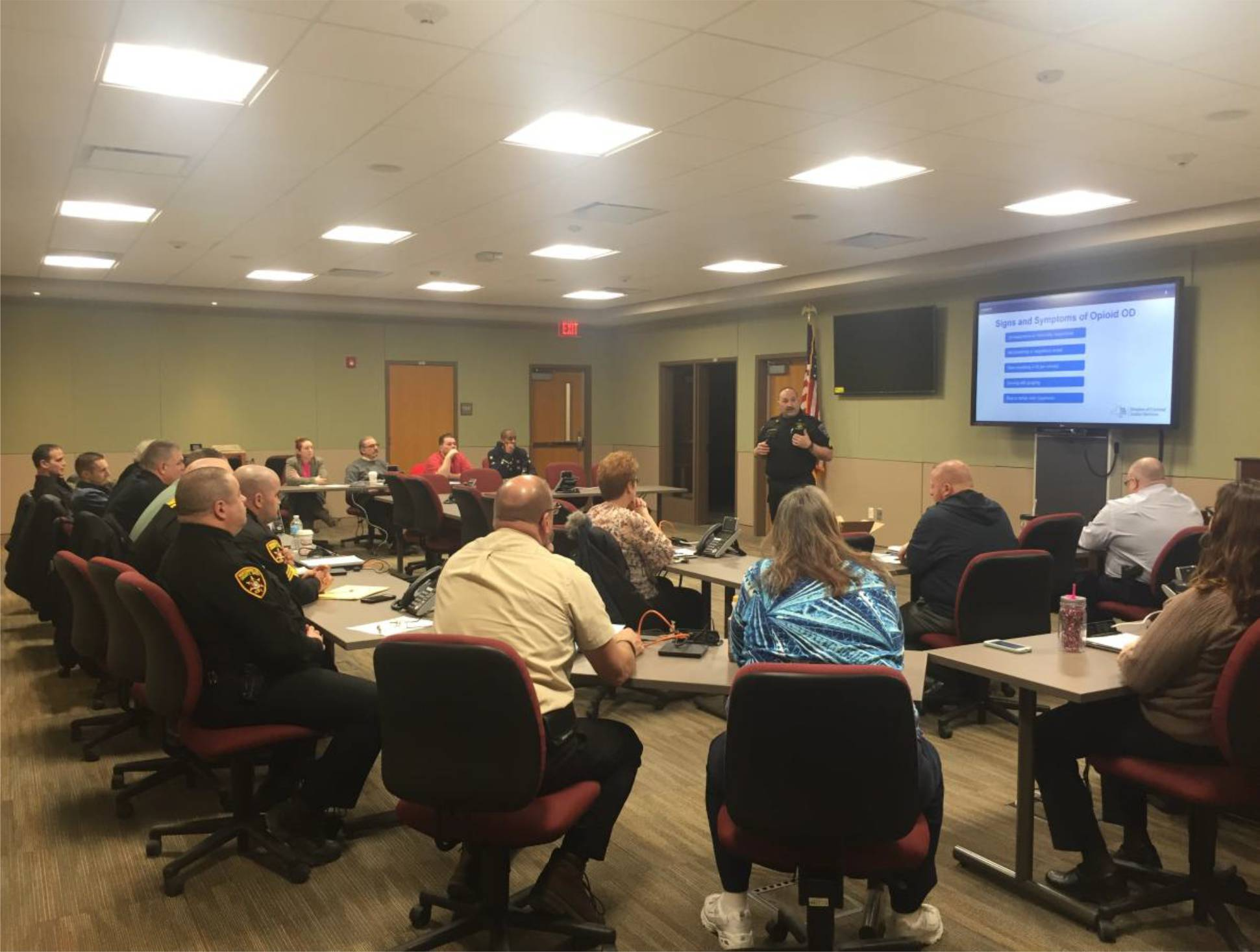 Naloxone Training Class in the Emergency Operations Center