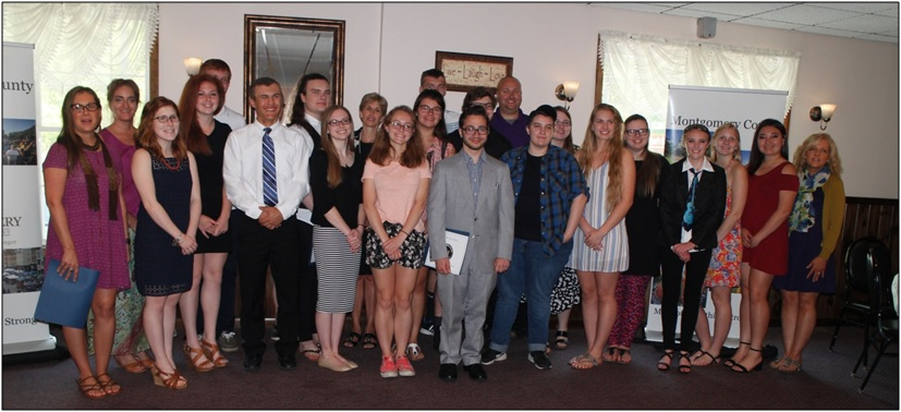 Photo of nominees (students and teachers) from the Students and Educators Made of Something Stronger Breakfast
