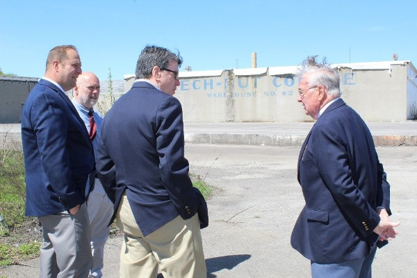 County Officials touring the former Beech-Nut site with Congressman John Faso Friday afternoon.