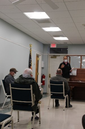 County Executive Matthew L. Ossenfort provides Canajoharie Village Officials an Exit 29 project update Tuesday at the Village Hall.