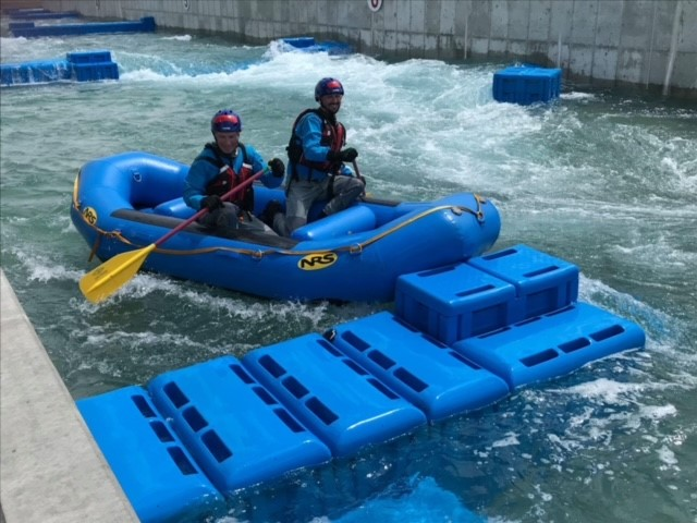 Swift Water Rescue Training - 2 people in a raft