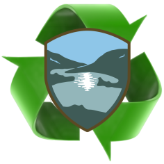 Recycle logo and Montgomery County Logo