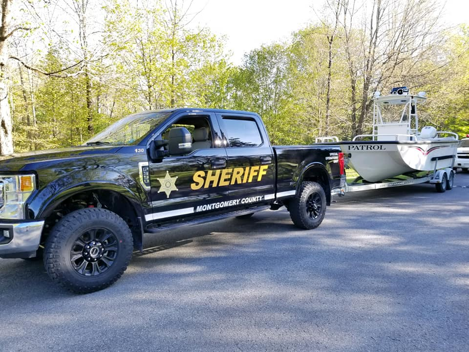 Marine Division - truck towing boat